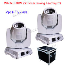 Shipping from US Warehouse White shell 230W beam 7R sharpy beam moving head light 8prisms or 16prisms with fly case(China)