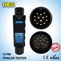 TIROL 13 Pin Towing Trailer Car Caravan Tow Bar Light Circuit Tester Unit for Plug Socket  connection 12 N T23331 Free Shipping