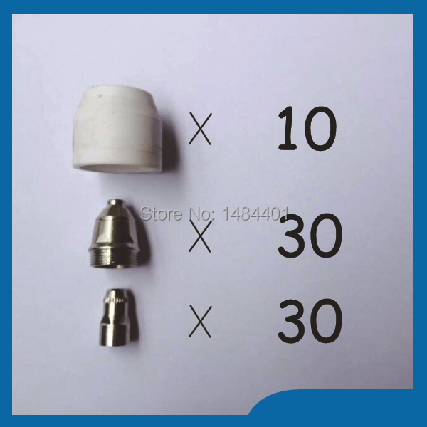 P80 Panasonic Air Plasma Cutting Cutter Torch Consumables, Plasma TIPS,Nozzles 60/80/100Amp, Plasma Electrodes, 70PK