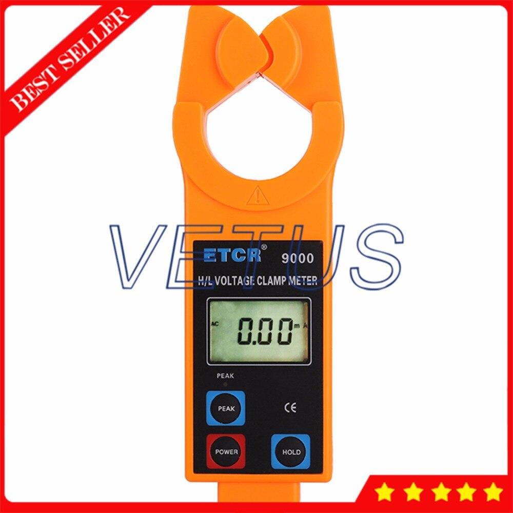 ETCR9000 mesure de pince de courant de fuite à courant alternatif haute/basse tension avec 99 ensembles enregistreur de données surveillance de courant alternatif en ligne