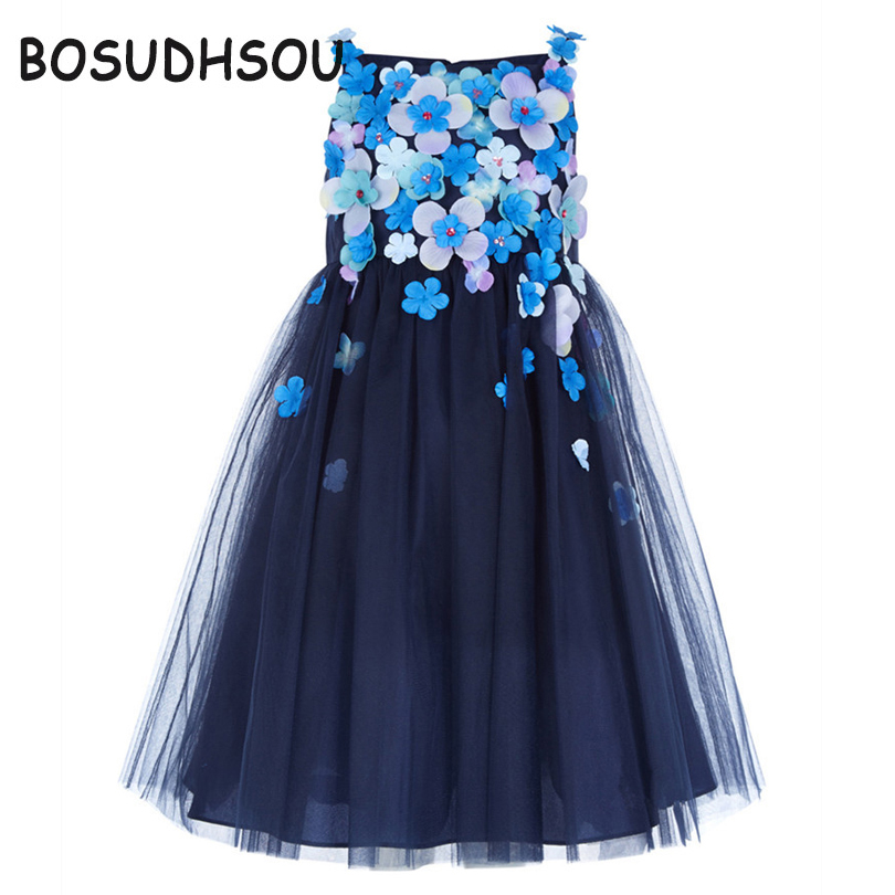 Bosudhsou Dress New Tulle Baby Bridesmaid Flower Girls Dress Girl Gown Birthday Evening Prom Cloth Tutu Party Dress YL-80  new hot sequins baby girls dress party gown tulle tutu bow heart shape dresses bridesmaid evening cute children dress