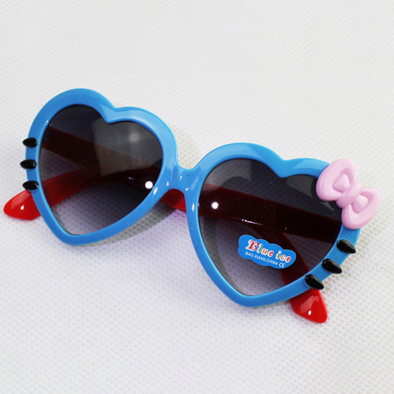 WANMEI.DS Heart Kids Sunglasses Brand Designer UV400 Children Sun Glasses Oculos De Sol Gafas