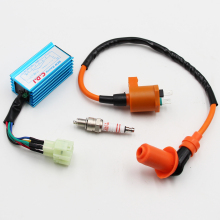 Scooter High Performance Racing Ignition Coil A7TC Spark Plug CDI GY6 50cc 70cc 90cc 125cc 150cc