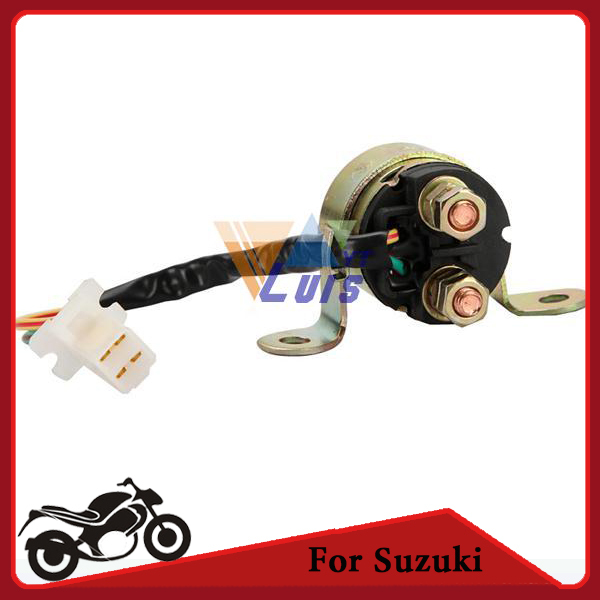 2 Wire Plug Motorcycle Starter Relay Solenoid for Suzuki DR200SE GV1400 VS700 VS800GL INTRUDER GR650D GV700GLF aliexpress com buy 2 wire plug motorcycle starter relay solenoid motorcycle starter relay wiring diagram at gsmx.co