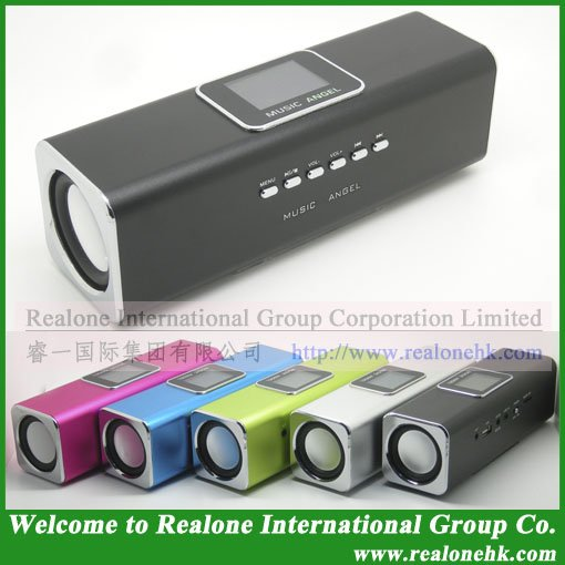 Black Speaker MUSIC ANGEL speaker manufacturer original cool quality JH-MAUK5 stereo sound box portable - REALONE -Mini Power Supplier store