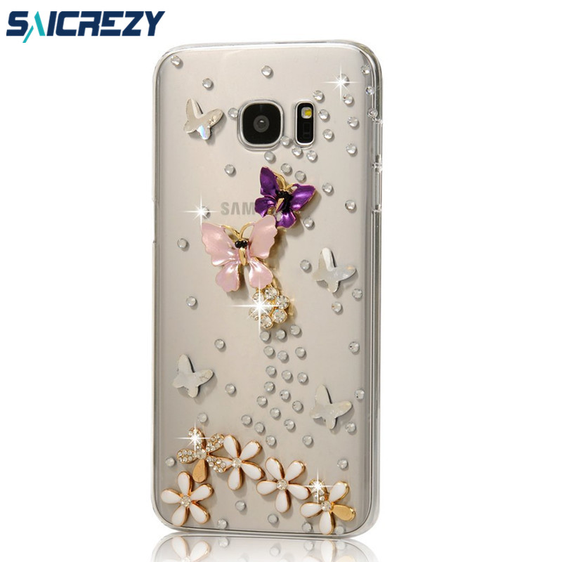 For Samsung Galaxy S5 S6 S7 S8 Edge Plus C5 C7 C9 Pro Case Bling Crystal Note 9 A8 A6 Plus 2018 Diamonds Rhinestone Stones Cover Activating Blood Circulation And Strengthening Sinews And Bones