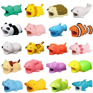 Image 5 - New Cable Winder Cute Animal Bite Cable Protector for iPhone Cable Chompers Winder Organizer Panda Bites Doll Model Holder