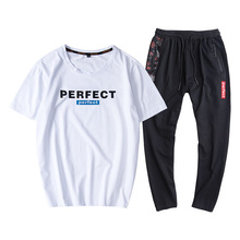9XL Men Sportswear Tracksuit Short Sleeve Tshirt Sweatshirt+pant Running Jogger Casual Exercise Workout Outfit Set Sport Suit