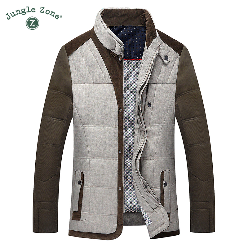 JUNGLE ZONE 2017 men's brand clothing Down 90% white duck down coats winter man Warm coats casual down jackets TH007