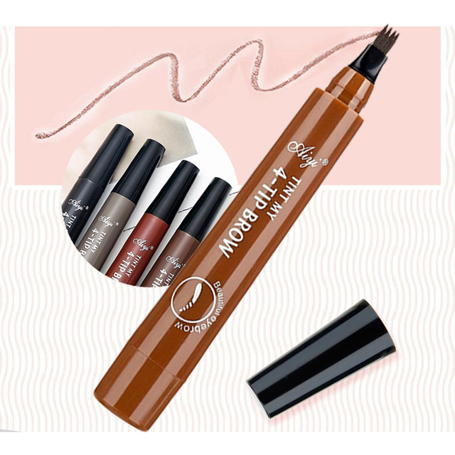 SUAKE Liquid Eyebrow Pencil Waterproof Microblading Fork Tip Fine Sketch Professional Eye Brow Tattoo Tint Pen Korean Cosmetics 1