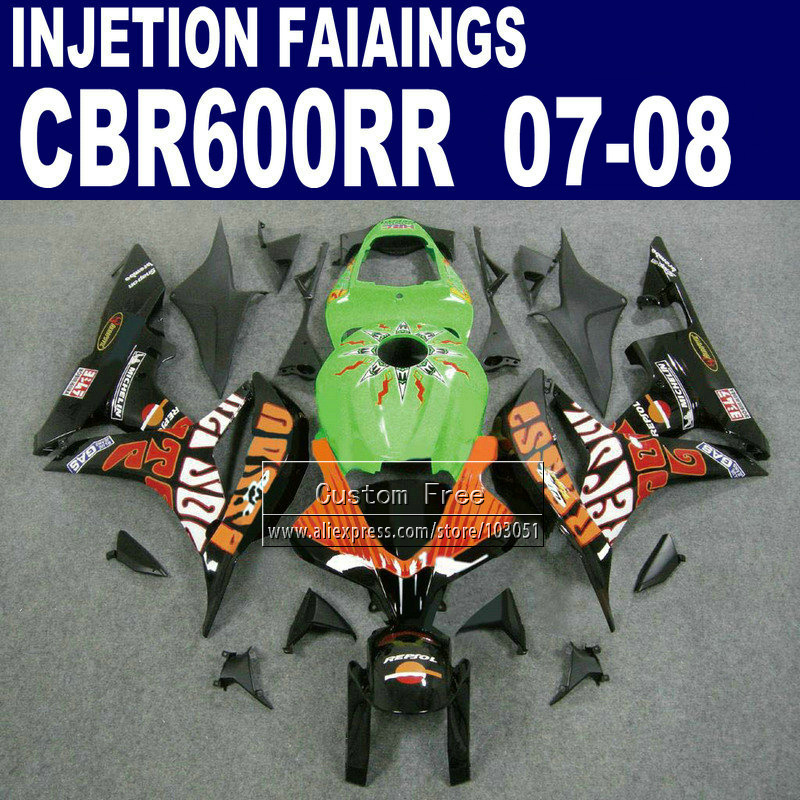 Injection ABS fairings kits for Honda CBR 600 RR fairing set 07 08 CBR 600RR CBR600RR 2007 2008 Rossi limited edition repsol kit 7gifts injection fairings kits for honda 600 rr f5 fairing set 07 08 cbr 600rr cbr 600 rr 2007 2008 full blue motorcycle parts