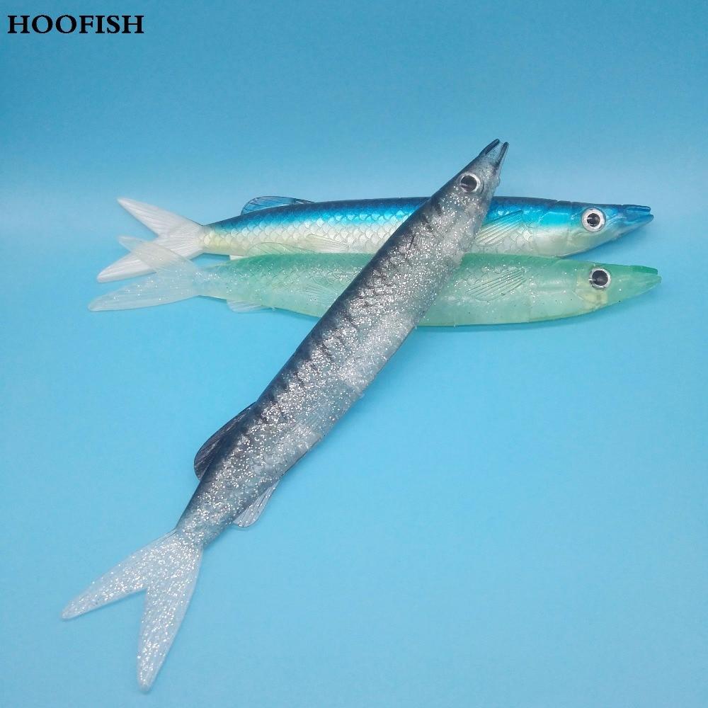 HOOFISH 3pcs/lot soft lure 52g 21.5cm Bait fishing saltwater lure deep sea silicone fish wobbler tackle fishing