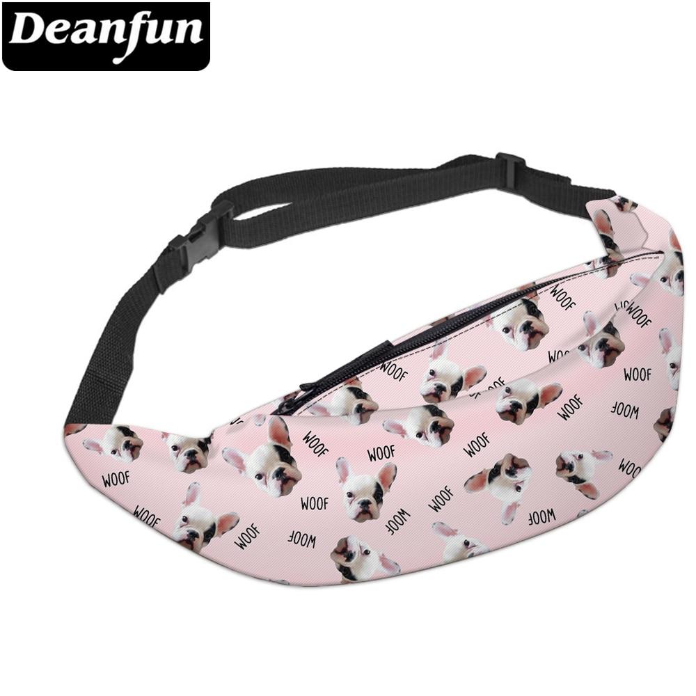 Deanfun 3D Printed Waist Bags Cute Bulldog Fanny Pack For Travelling YB17
