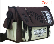 Anime Shingeki no Kyojin Shoulder Bag Attack on Titan Sling Pack School Bags Messenger Bag Travel Bag