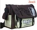 Anime attack on titan shingeki no kyojin shoulder bag sling pack de bolsas de la escuela bolsa de viaje bolsa de mensajero masculino de los hombres