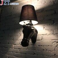 М Nordic классический Конская бра Современный Утюг животных свет ткань лампы Тенты для Гостиная кабинет E27 свет источник