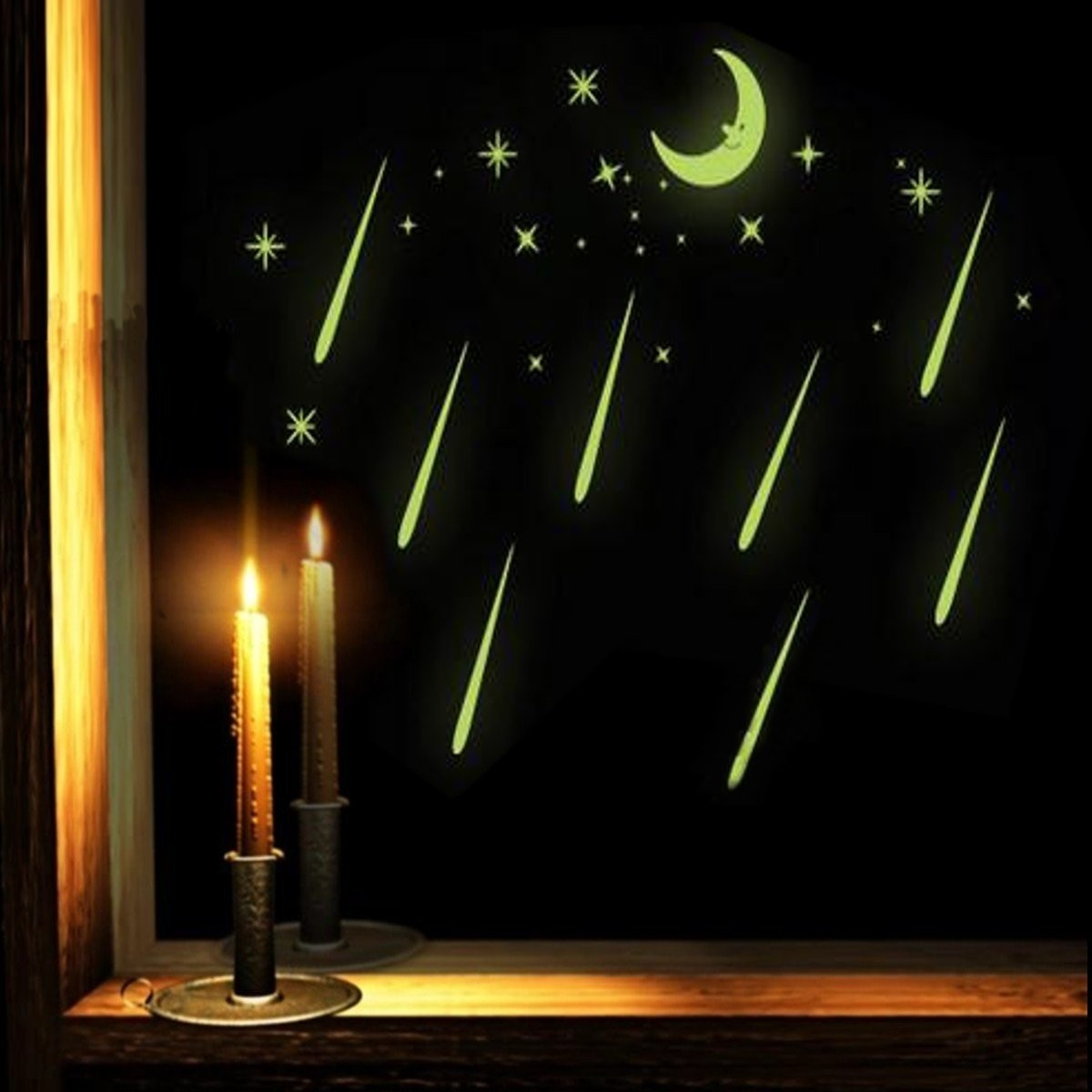Meteor Shower Luminous Light Moon&Star Wall Stickers Decals Home Home Decor safe