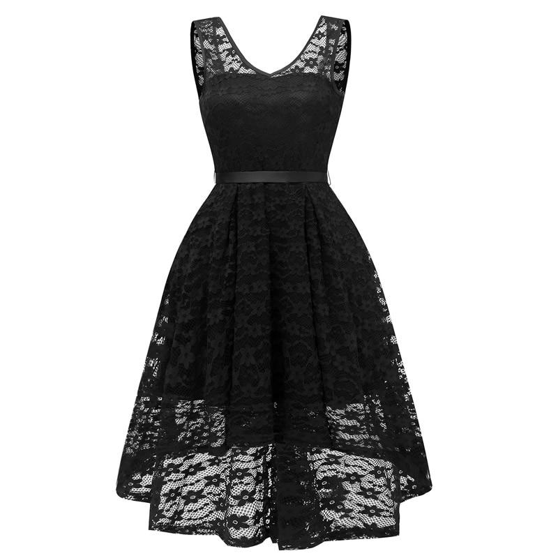 Vintage fashion Short Lace formal   dress   sleeveless   evening     dress   elegant Party   Dresses     evening   gown abendkleider