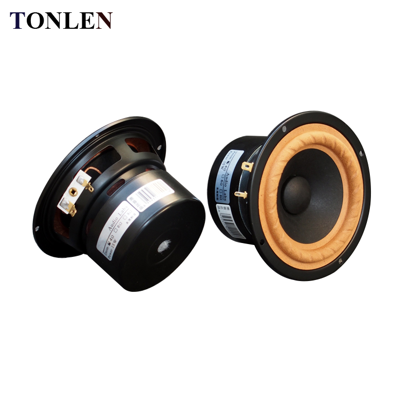 TONLEN 2PCS 4 inch Full range speaker 4 ohm 8 ohm 15 W HIFI Wireless Bluetooth Speaker Horn Tweeter Subwoofer Audio Sound Box 4pcs diaphragm horn for behringer b215xl 44t30h8 44t3018 44t30d8 8 ohm