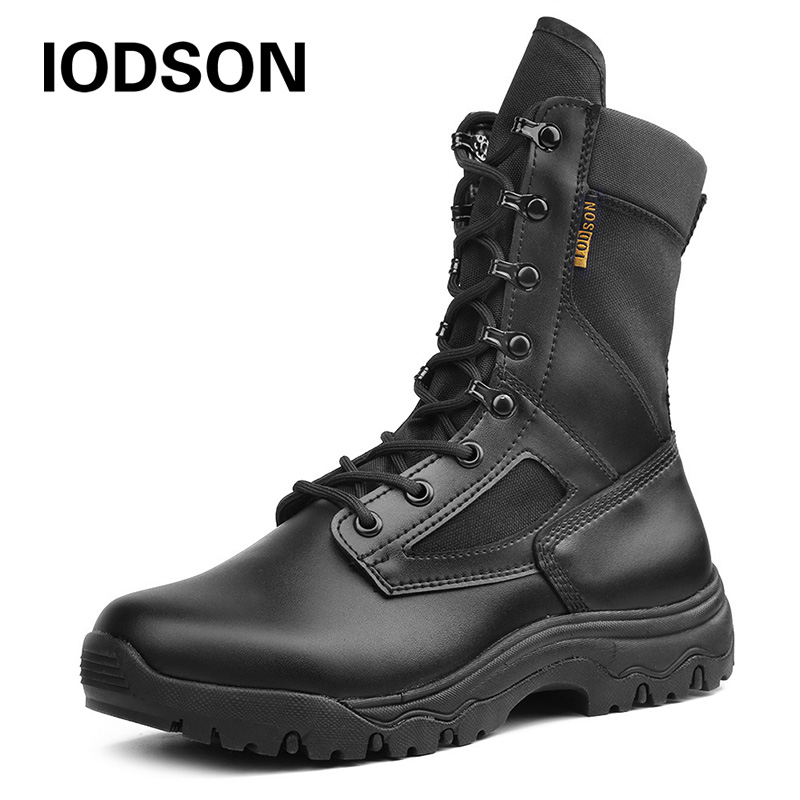 Outdoor Desert Military Tactical Boots Special Force Army Shoes For Men Lace-up Antum/Spring Combat Ankle Boots Black Beige