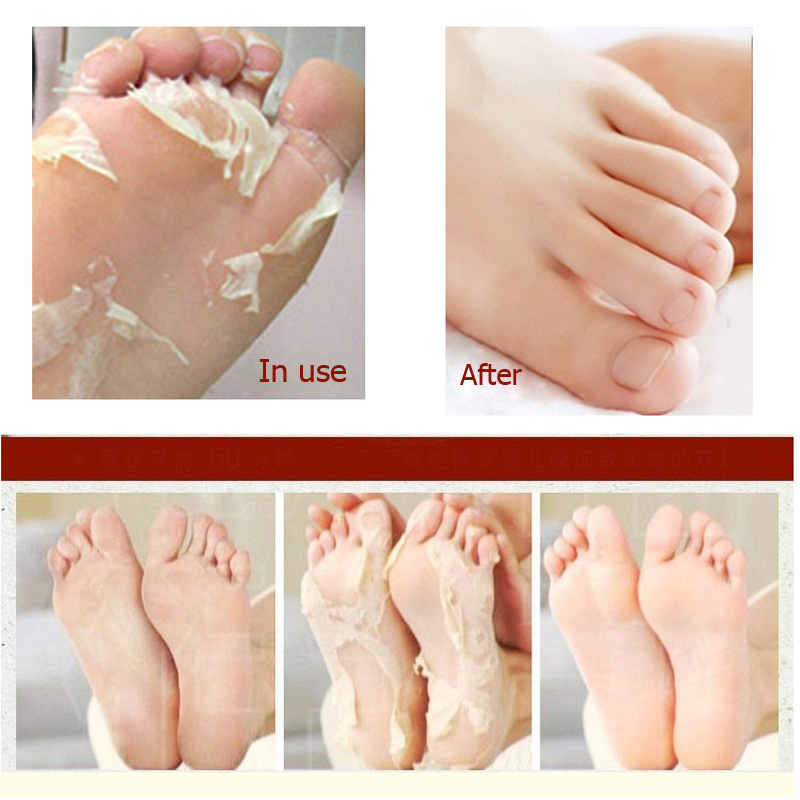 efero 2 pair Lavender Foot Socks Remove Dead Skin Smooth Deep Skin Repair Foot Nourish Mask Peel Renewal Heel Feet Care Mask 4