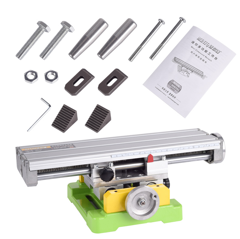 BG-6300 Mini Compound Bench Slide Table Worktable Milling Working Cross Table Drilling Machine For Bench Drill X-Y Adjustment milling drill press bench 580w stroke 60mm clamping range 1 5 13mm 4000rpm high speed diy drilling mill machine