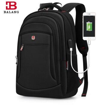 Balang Laptop Backpacks Bagpack Men Rucksack Travel Men's Backpack School Bags Women Plecak for 15.6 inch Anti-theft Waterproof