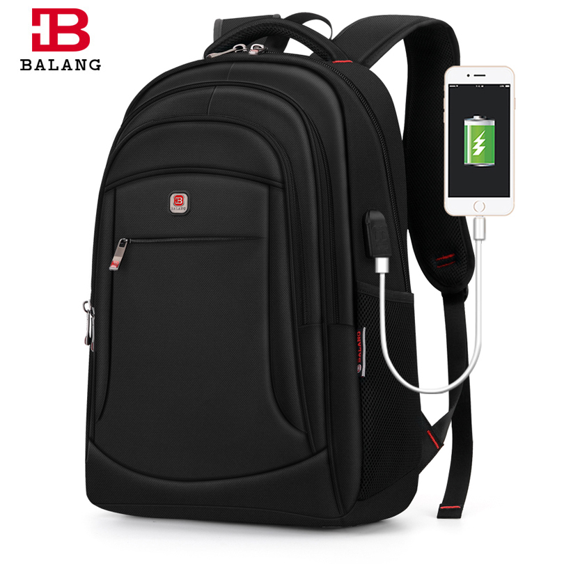 Mochila para ordenador portátil Balang mochila para hombre mochila de viaje para hombre mochilas escolares para mujeres Plecak para 15,6 pulgadas antirrobo impermeable-in Mochilas from Maletas y bolsas    1