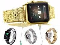 New Fashion Model Style Crystal Rhinestone Diamond Watch Bands Stainless Steel Bracelet Strap For Apple Watch