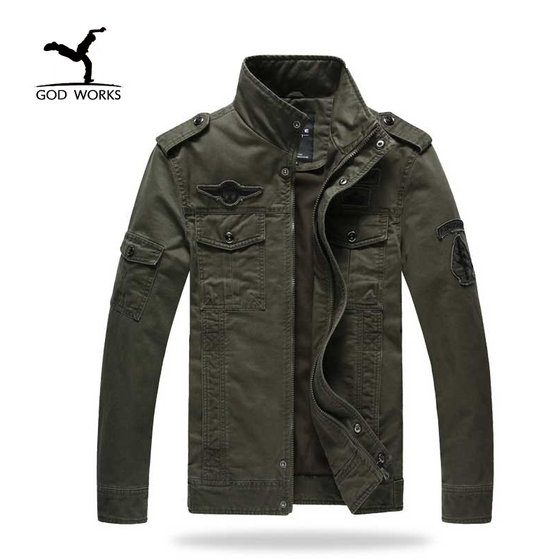 Men Military Army jackets plus size 6XL Brand 2017 Hot cost outerwear embroidery mens jacket for