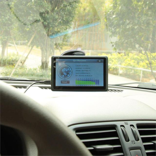 Caliente nuevo Coche de 7 pulgadas de navegación gps de Pantalla Táctil de Navegación GPS FM de transmisión de 8 GB + Mapa de América tk103b Vehículo Navigator