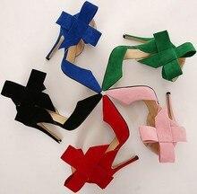 Four season women's high heel pointed toe shoes
