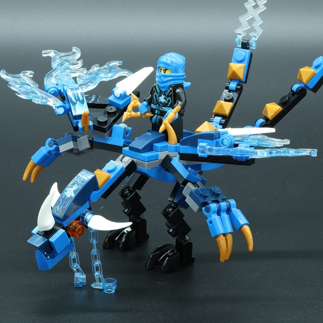 115+ Ninjago Dragon Parts Building Blocks Small Figures Toys for Children Educational Toy Bricks Model legoed Ninjiagoes DIY