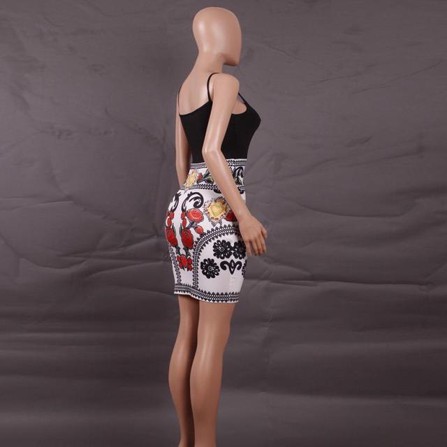 Office Dress Business Women Appropriateness Summer Dress Floral Printed Mini Dress Abiti Donna #2415