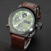 Moda masculina Deporte 5ATM Relojes Militares Hombres de la Marca de Lujo 50 m de Buceo LED Digital Analógico de Cuarzo Relojes 2017 Nueva AMST relojes