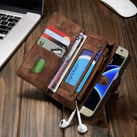 Luxury For Samsung Galaxy S8 Case Leather Card Pack Functiona For Smasung Galaxy S8 Plus Case