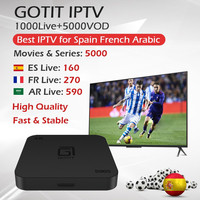 GOTIT S905 Android TV Box 1 Year Spain Europe IPTV Subscription French IPTV Movistar Digital Spain WiFi Support 2G16G 1G8G