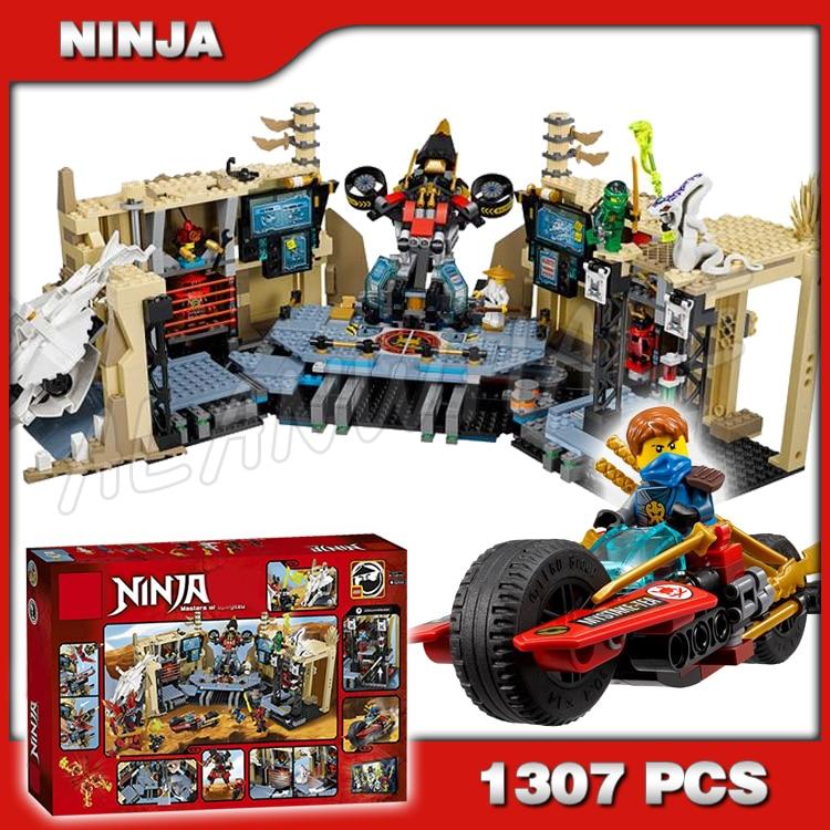 1307 pièces Ninja samouraï X grotte Chaos Mech Robot Base du désert 10530 blocs de construction Jay Lloyd assembler des jouets compatibles avec