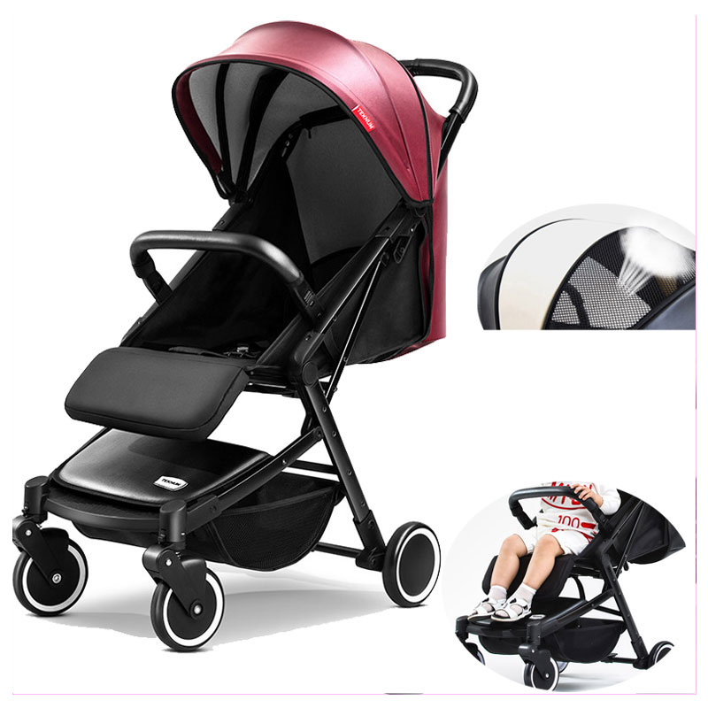 Luxury Baby Stroller Light Can Sit Lie Portable Trolley Travel Car Folding Baby Umbrella Carriage Pram Buggy Pushchair 0~3Y quick folding small portable baby stroller folding umbrella wheelchair baby carriage travel system car baby trolley pram 0 3y