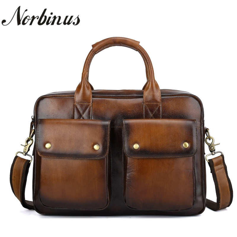 New Men Real Cowhide Genuine Leather Handbag High Capacity Messenger Shoulder Bag Cross Body Male Business Briefcase Laptop Pack brand p kuone genuine cow leather real cowhide men s brown black business computer laptop shoulder bag briefcase handbag male