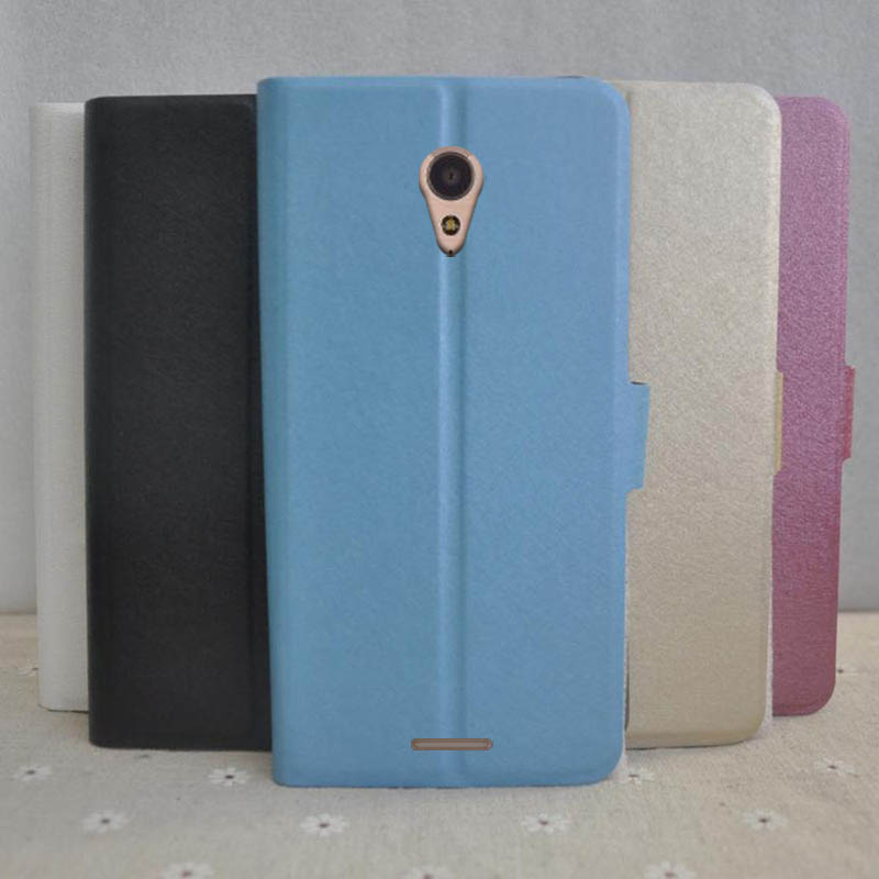For Micromax Q4202 Cover Case PU Leather Silk Pattern with Stand Function Phone Cases Cover For Micromax Bolt Warrior 2 Q4202 5