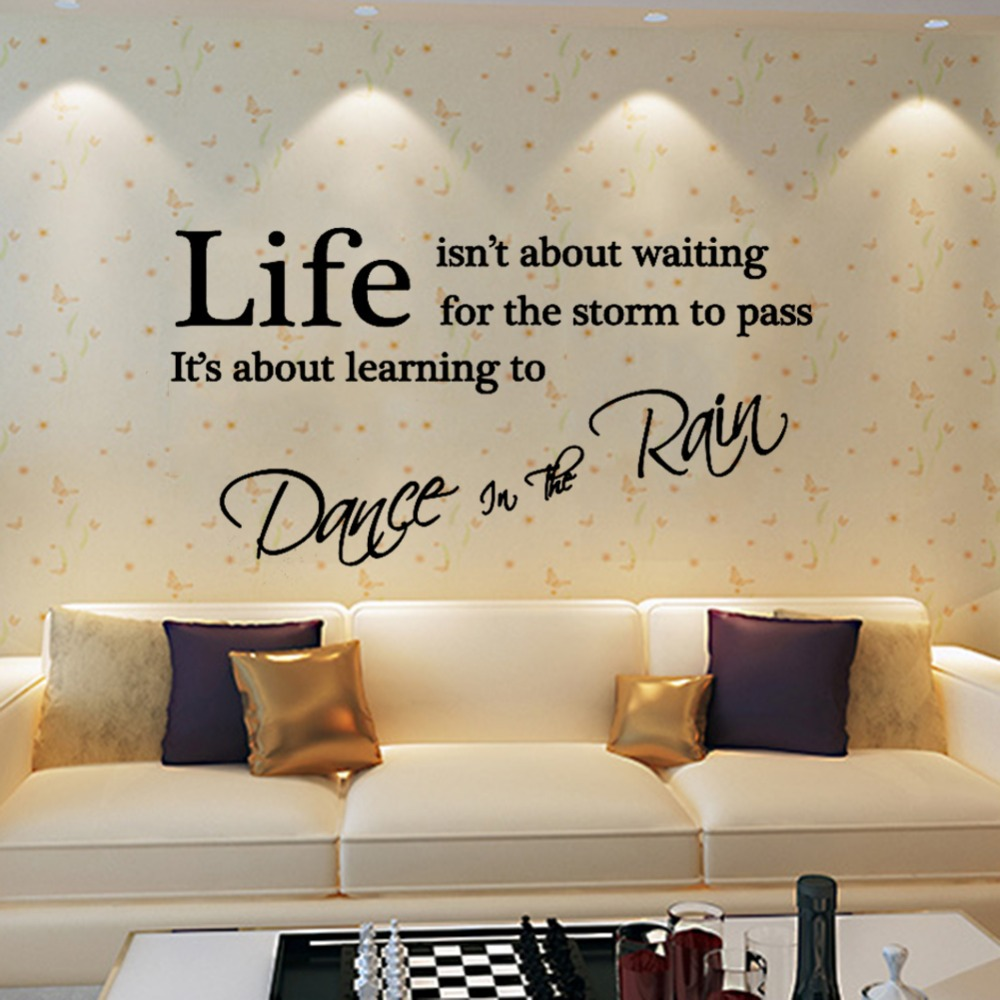 Dance In The Rain Quote Wall Art Dance In The Rain Wall Quotes