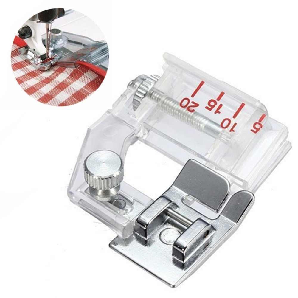 1 Pcs Adjustable Bias Tape Mengikat Kaki Snap On Presser Kaki untuk Mesin Jahit Brother Aksesoris 5BB5732