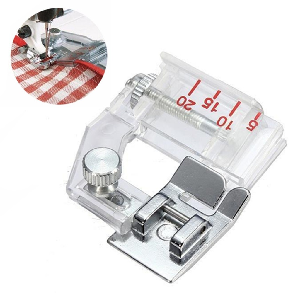 1 pcs Adjustable Bias Tape Binding Foot Snap On Presser Foot For Brother Sewing Machine Accessories 5BB5732(China)