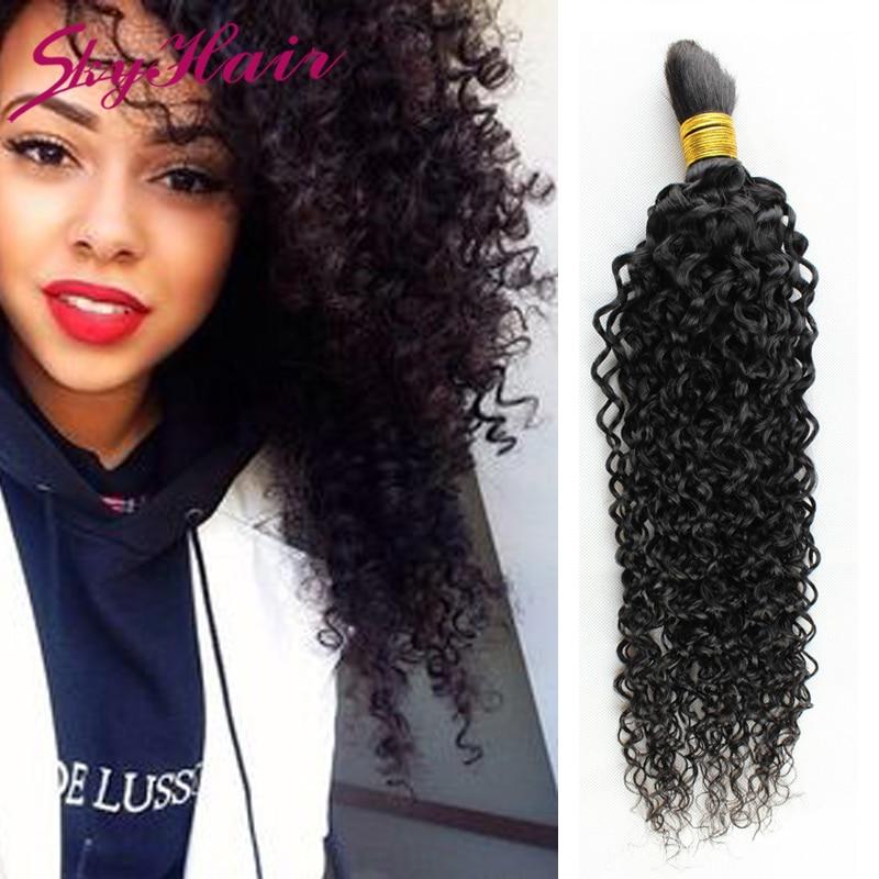 brazilian curly human hair for braiding bulk 1pc lot human hair for braiding bulk no attachment brazilian afro kinky bulk hair