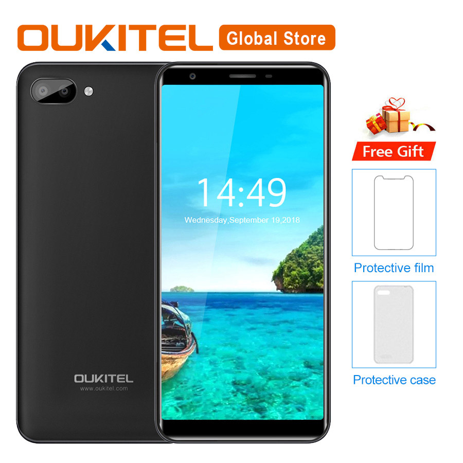 Oukitel C11 5 5 HD 18 9 Android 8 1 1GB RAM 8GB ROM Smartphone MTK6580A