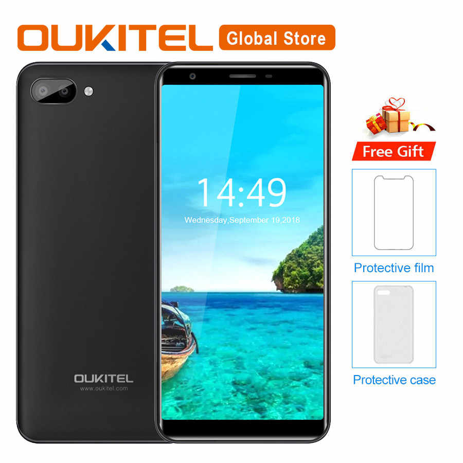 "Oukitel C11 5.5""HD 18:9 Android 8.1 1GB RAM 8GB ROM Smartphone MTK6580A Quad Core 5MP+2MP/2MP 3400mAh 3G Mobile Phone"