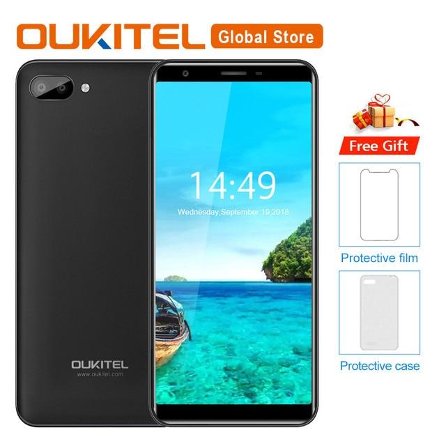 "Oukitel C11 5,5 ""HD 18:9 Android 8,1 1 GB RAM 8 GB ROM Smartphone MTK6580A Quad Core 5MP + 2MP/2MP 3400 mAh 3G teléfono móvil"