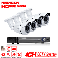 4CH CCTV System 1080P HDMI AHD 4CH CCTV DVR 4PCS 2 0 MP IR Outdoor Security