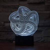 Usb 터치 제어 책상 램프 테이블 현대 led Nightlight 아트 추상 다채로운 비전 스테레오 3d Led 크리 에이 티브 테이블 램프